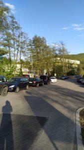 Parkovanie pred plavárňou
